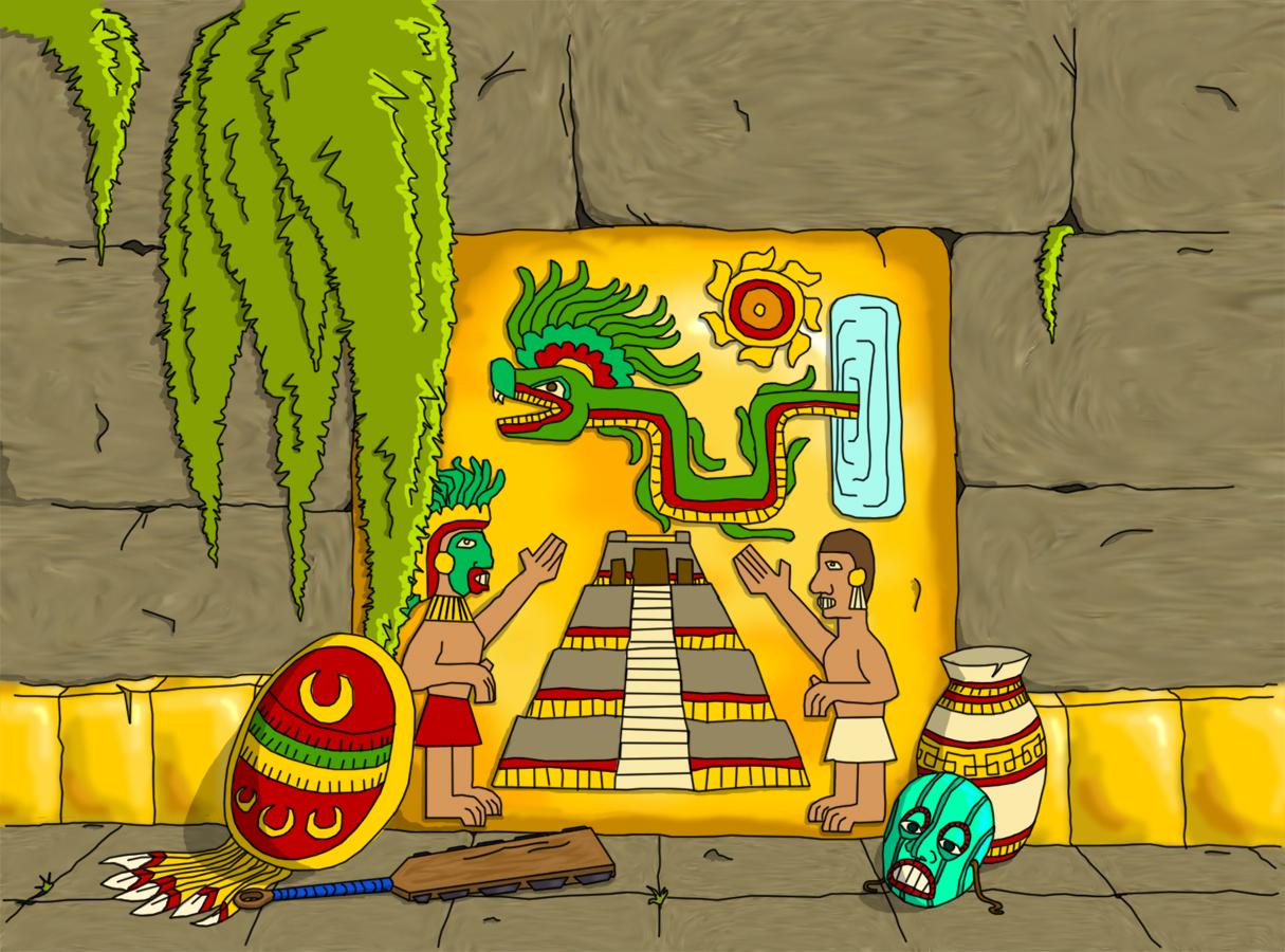 Aztec mural by stegoceras on deviantart for Aztec mural painting