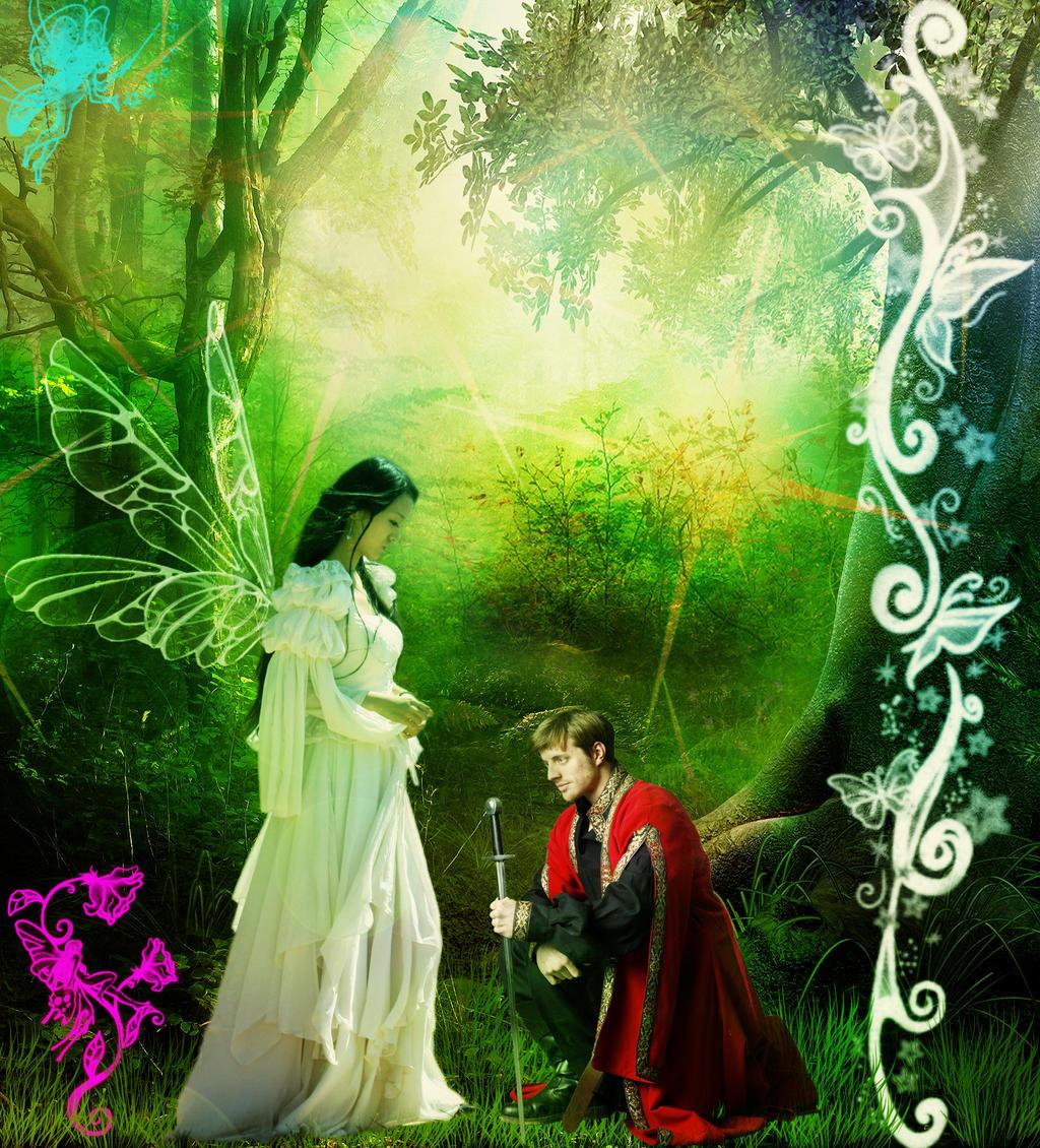 Fairy and Warrior by Andrei-Azanfirei
