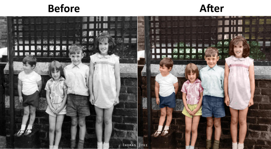 Black and white photo restoration by thomasdyke