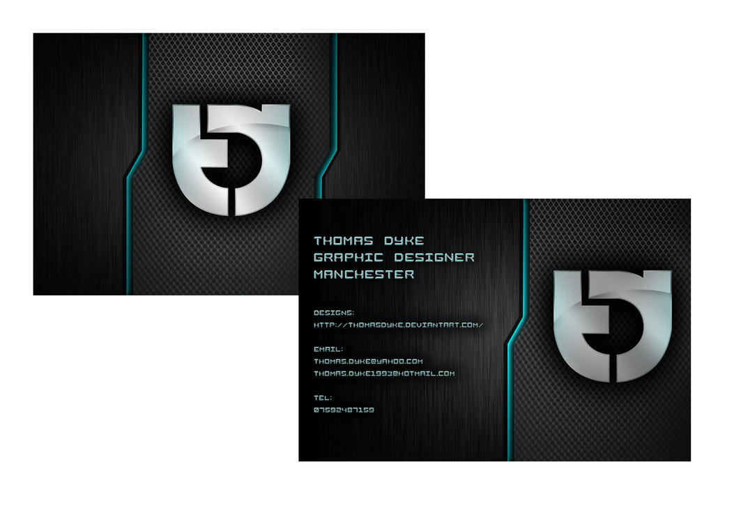 My business card design by thomasdyke on deviantart for My business card
