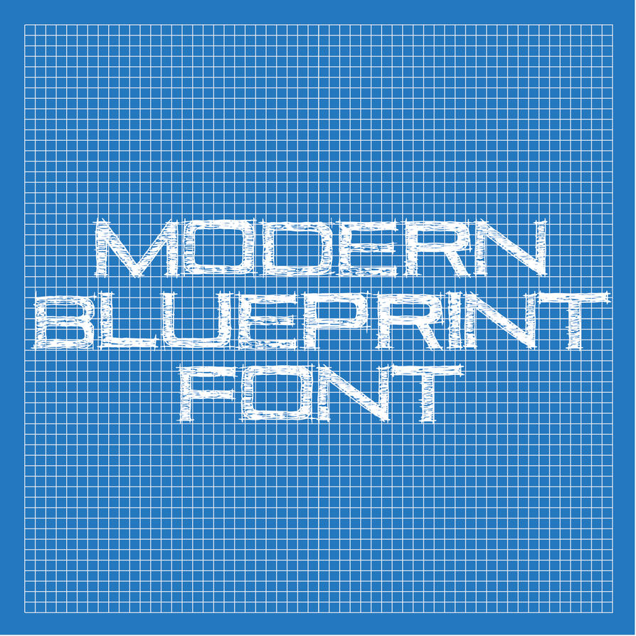 Modern blueprint font by thomasdyke on deviantart modern blueprint font by thomasdyke malvernweather Image collections