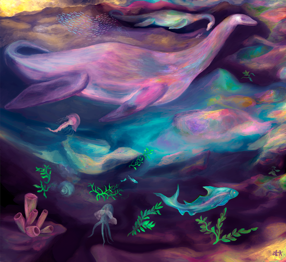 plesiosaurs by founder-of-silence