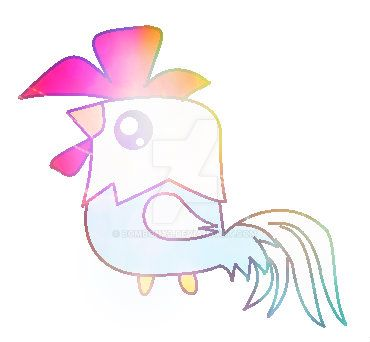 The rainbow rooster xD by Bombonx3