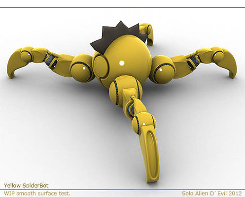 Yellow SpiderBot