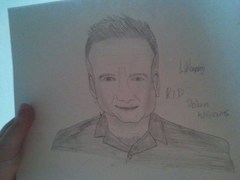 Robin Williams sketch by LamePie