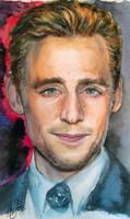 Tom Hiddleston. Watercolor by AtanvarneArt