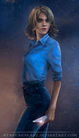 Laurie Strode by AtanvarneArt