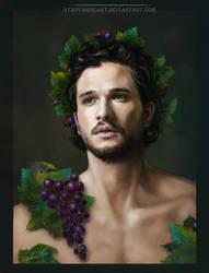 Kit Harington. Grape vine