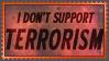 Stamp  -  I Don't Support Terrorism