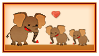 Stamp - Elephant Family by fmr0