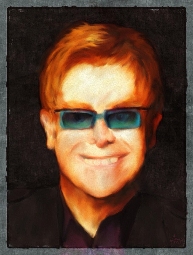Elton John - caricature by fmr0