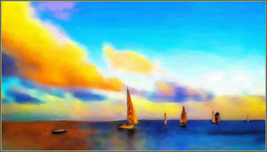 Sailing to the Sunset by fmr0