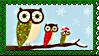 Stamp - XMas Owls