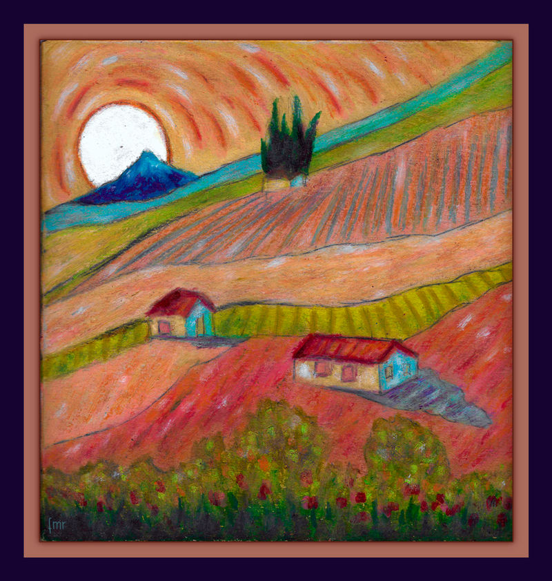 Provence a la Van Gogh by fmr0