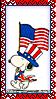 Stamp - Patriotic Snoopy