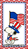 Stamp - Patriotic Snoopy by fmr0