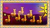 Stamp - Happy Llamas