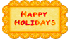 Stamp - Happy Holidays