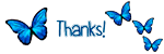 Icon -  Thanks - Blue Butterflies