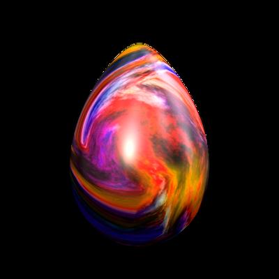 Easter Egg - Colourful Swirls