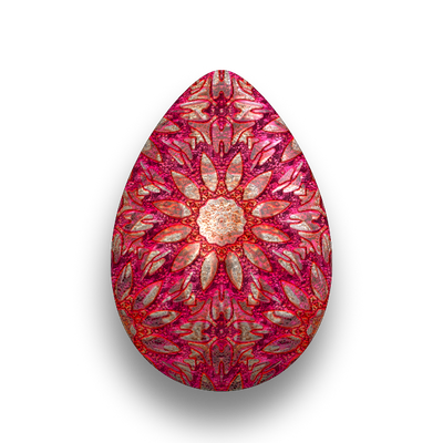 Easter Egg - Amaranth and Gold Metal by fmr0
