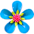 Icon - Blue Flower