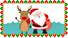 Stamp - Santa and Rudolph by fmr0