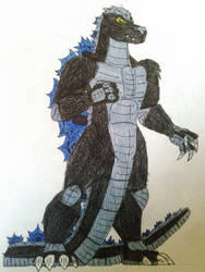 Godzilla Kaiju Rising: Godzilla Jr (colored) by GodzillaDanger101