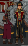 The Commissar and his aide (plus background) by CommissarGabe