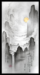 ShanShui - Mountain, Water, Clouds and Moon