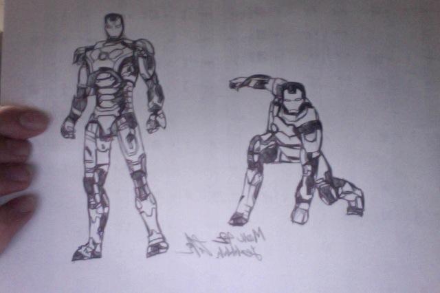 Iron Man 3 - Mark 42 Sketch By Boy2643 On DeviantArt