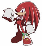 Knuckles from Sonic Riders