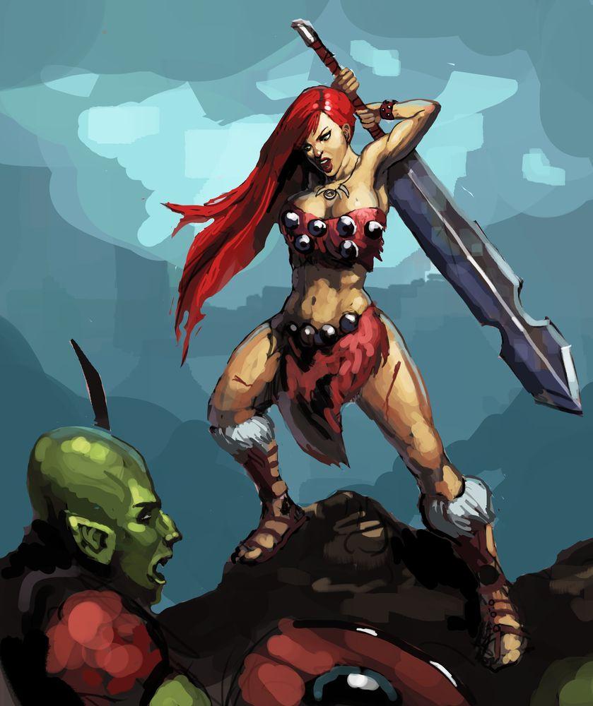 Barbarian Girl by Beaver-Skin