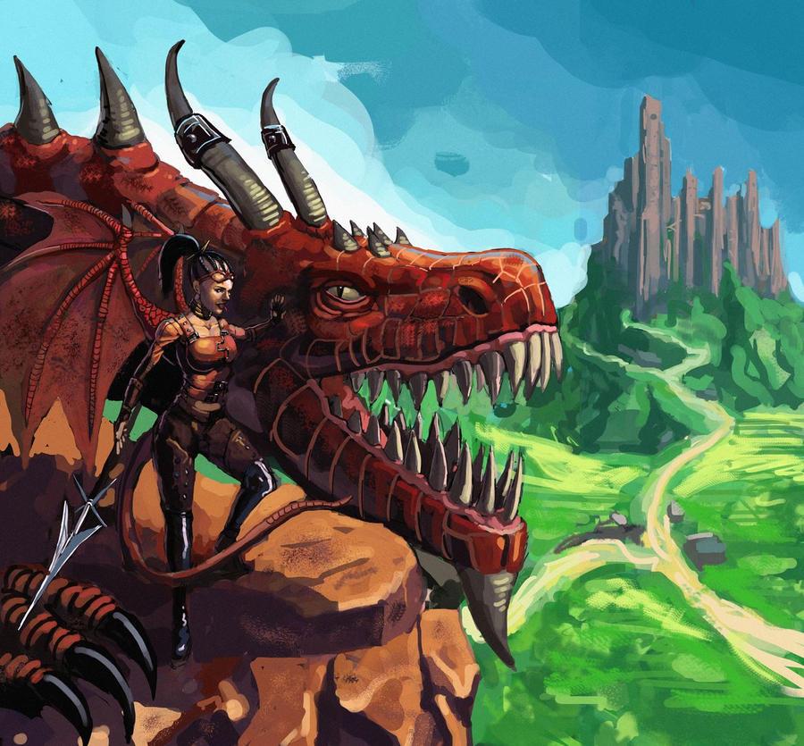 Dragon Rider by Beaver-Skin