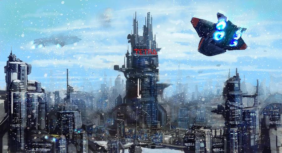 Frozen City by Beaver-Skin
