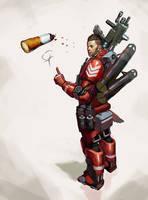 Trooper in red by Beaver-Skin