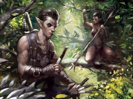 Elven Ambush by Beaver-Skin