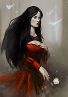 Lady in red Sketch by Beaver-Skin