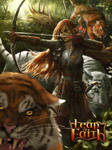 Elven Girl with Tigers Evolve