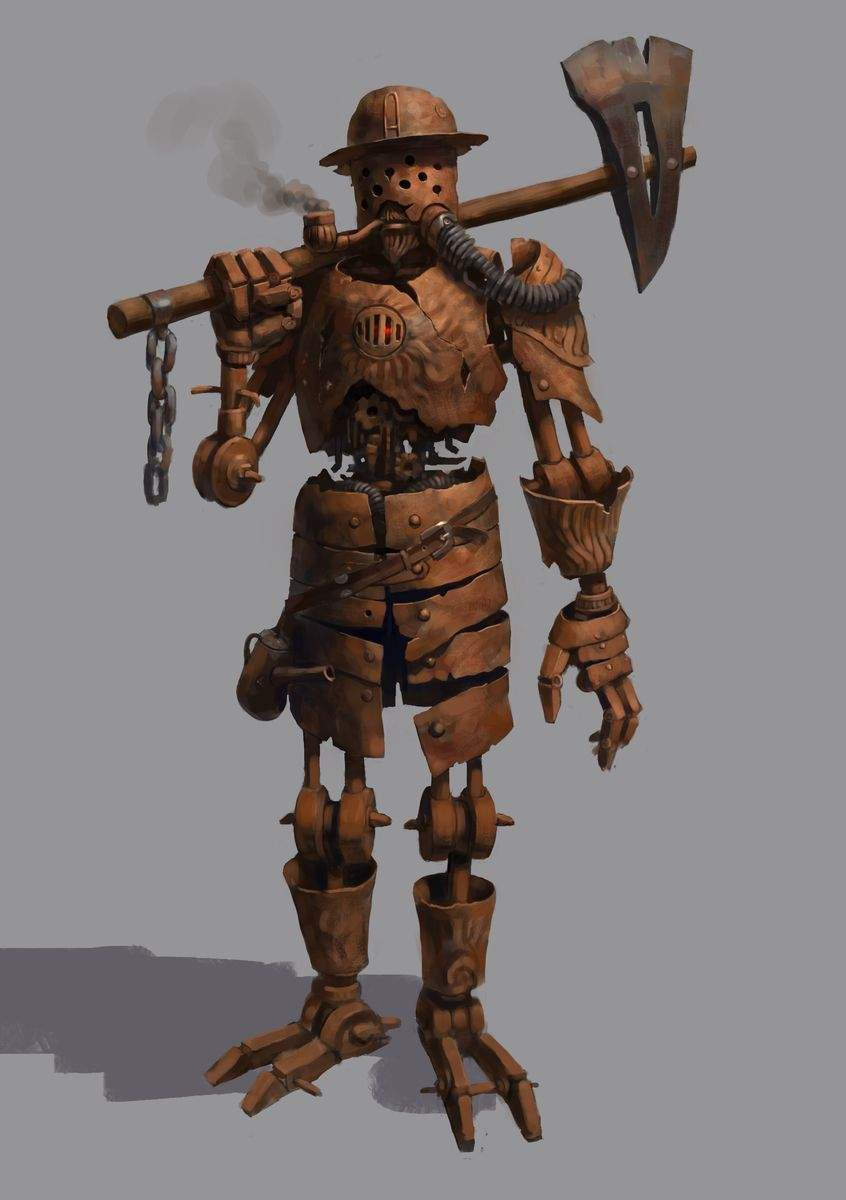 Rusty woodcutter by Beaver-Skin