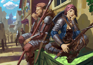 Bored Adventurers by Beaver-Skin