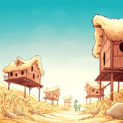 Bird Village by DeadlyComics