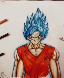 Goku Super Saiyan God Blue (Ssj God Ssj) by FlashStar26