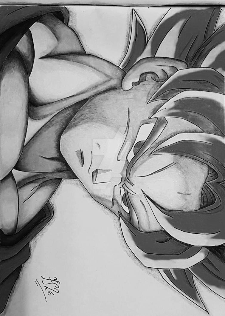 Goku Super Saiyan 1 (SSJ) Alternate Version by FlashStar26