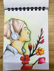 BTS- V (Kim Taehyung)  Drawing  by FlashStar26