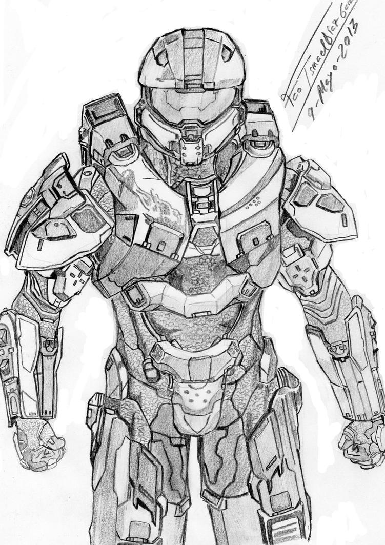 Master chief halo 4 by franismael117 on deviantart for Master chief coloring pages