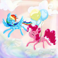 Flying with pinkie by ShimmyCocoPuffssX1