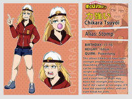 My Hero Academia: Chikara Tsuyoi. Reference Sheet by TheNessY21