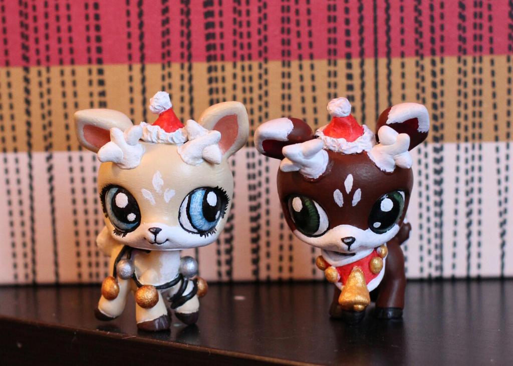 Christmas Deers (LPS customs) by pia-chu on DeviantArt
