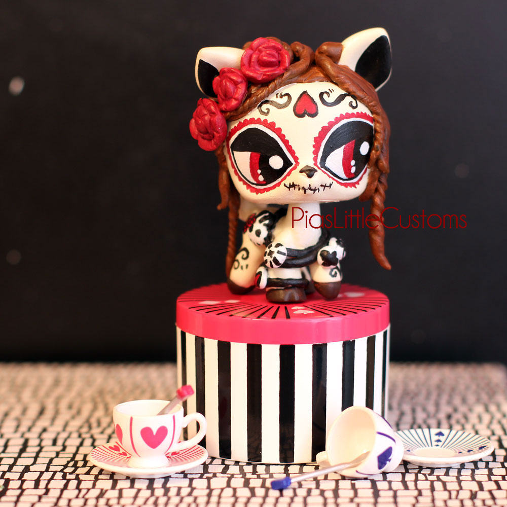 day of the dead deer lps custom by pia chu